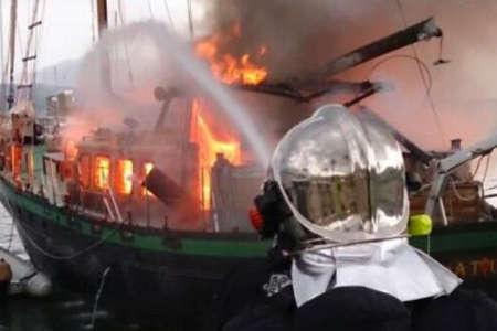 incendie a bord